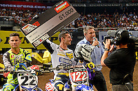 Dan Reardon / Yamaha<br /> 2015 Round 5 / Class : SX1<br /> Australian Supercross Championship / AUS-X Open<br /> Sydney NSW Saturday 28 November 2015<br /> © Sport the library / Jeff Crow