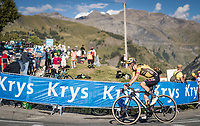 George Bennett (NZL/Jumbo Visma) in the final kilometer up the Orcières-Merlette finish<br /> <br /> Stage 4 from Sisteron to Orcières-Merlette (161km)<br /> <br /> 107th Tour de France 2020 (2.UWT)<br /> (the 'postponed edition' held in september)<br /> <br /> ©kramon