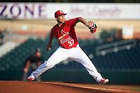 Palm Beach Cardinals starting pitcher Derian Gonzalez (37) during a game against the Jupiter Hammerheads  on August 12, 2016 at Roger Dean Stadium in Jupiter, Florida.  Jupiter defeated Palm Beach 9-0.  (Mike Janes/Four Seam Images)