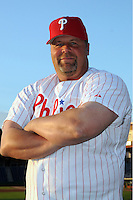 Feb 20, 2009; Clearwater, FL, USA; The Philadelphia Phillies coach Mick Billmeyer (17) during photoday at Bright House Field. Mandatory Credit: Tomasso De Rosa/ Four Seam Images