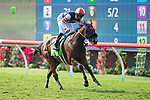 DEL MAR,CA-AUGUST 18: Fashion Business, ridden by Fravien Prat, wins the Del Mar Oaks at Del Mar Race Track on August 18,2018 in Del Mar,California (Photo by Kaz Ishida/Eclipse Sportswire/Getty Images)