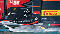 15th March 2021; Waitemata Harbour, Auckland, New Zealand;  Luna Rossa Prada Pirelli Team and Emirates Team New Zealand start race seven on day five of the America's Cup presented by Prada