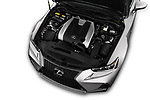 Car Stock 2017 Lexus IS 350 4 Door Sedan Engine  high angle detail view