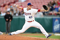 Buffalo Bisons pitcher Austin Bibens-Dirkx (40) delivers a pitch during a game against the Syracuse Chiefs on July 23, 2014 at Coca-Cola Field in Buffalo, New  York.  Syracuse defeated Buffalo 5-0.  (Mike Janes/Four Seam Images)