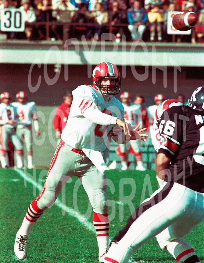 Gerry Dattilio Calgary Stampeders quarterback. Photo Scott Grant