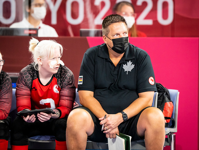 Coach Trent Farebrother, Tokyo 2020 - Goalball.<br /> Canada takes on Russia in the preliminary round // Le Canada affronte la Russie au tour préliminaire. 25/08/2021.
