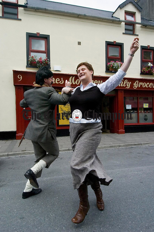 Stepping it out in style during the Ennis Street Festival. Photograph by John Kelly.