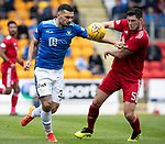 St Johnstone v Aberdeen…15.09.18…   McDiarmid Park     SPFL<br />Tony Watt and Scott McKenna<br />Picture by Graeme Hart. <br />Copyright Perthshire Picture Agency<br />Tel: 01738 623350  Mobile: 07990 594431