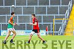 Sean O'Shea Kenmare hamstring heavily strapped during their SFC quarter final in Fitzgerald Stadium on Sunday