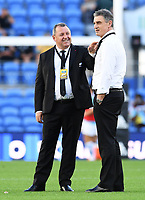 12th September 2021; Cbus Super Stadium, Robina, Queensland, Australia; Rugby International series, New Zealand versus Argentina:  Ian Foster and Scott McLeod during warm up session