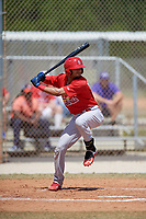 St. Louis Cardinals Ryan McCarvel (12) bats during a minor league Spring Training game against the Washington Nationals on March 27, 2017 at the Roger Dean Stadium Complex in Jupiter, Florida.  (Mike Janes/Four Seam Images)