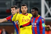 Troy Deeney of Watford gives a thumb up  during the Premier League match between Crystal Palace and Watford at Selhurst Park, London, England on 12 December 2017. Photo by Carlton Myrie / PRiME Media Images.