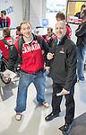 Corbin Watson and Benoit St-Amand, Sochi 2014. <br /> Team Canada arrives at the airport in Sochi for the Sochi 2014 Paralympic Winter // Équipe Canada arrive à l'aéroport de Sotchi pour Sochi 2014 Jeux paralympiques d'hiver. 28/02/2014.