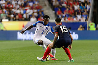 Harrison, NJ - Friday July 07, 2017: Félix Crisanto, Francisco Calvo during a 2017 CONCACAF Gold Cup Group A match between the men's national teams of Honduras (HON) vs Costa Rica (CRC) at Red Bull Arena.