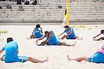 Japan team group (JPN),<br /> APRIL 20, 2014 - Beach Soccer :<br /> Beach Soccer Japan national team candidates training camp in Okinawa, Japan. (Photo by Wataru Kohayakawa/AFLO)