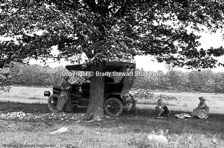 Westmoreland County PA:  Brady Stewart and friends stopped for a picnic while driving on the Pittsburgh to Greensburg Turnpike for a picnic.