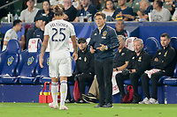 CARSON, CA - SEPTEMBER 15: Los Angeles Galaxy head coach Guillermo Barros during a game between Sporting Kansas City and Los Angeles Galaxy at Dignity Health Sports Complex on September 15, 2019 in Carson, California.