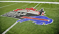 3 December 2009: The Bills in Toronto logo painted on the Field Turf playing surface at a game between the Buffalo Bills and the New York Jets at the Rogers Centre in Toronto, Ontario, Canada. The Jets defeated the Bills 19-13. Mandatory Credit: Ed Wolfstein Photo