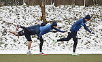 Someone should tell Lewis MacLeod and Ross Perry that trying to skate on the grass is going to get them nowhere, take two steps back and try it on the snow lads.