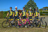 The Blindz Direct team before stage three of the NZ Cycle Classic UCI Oceania Tour in Wairarapa, New Zealand on Tuesday, 24 January 2017. Photo: Dave Lintott / lintottphoto.co.nz