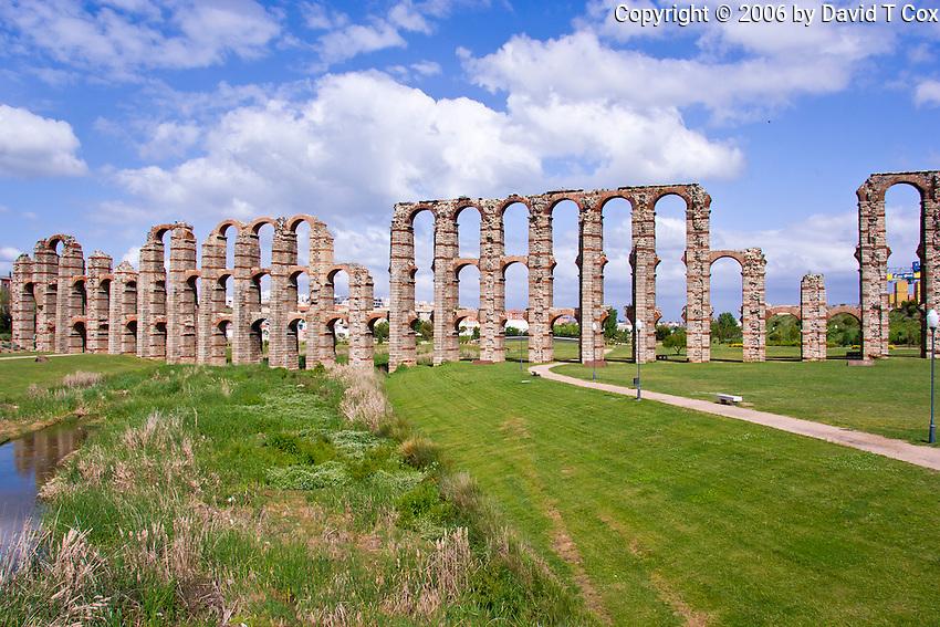 Roman Aquaduct los Milagros, 1st C BC, Merida, Spain