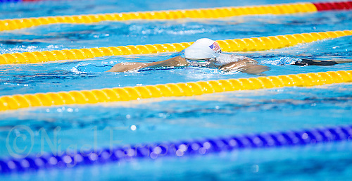 01 AUG 2012 - LONDON, GBR - Ryan Lochte (USA) of the USA races during his men's 200m Individual Medley heat during the morning session of the London 2012 Olympic Games Swimming at the Aquatic Centre in the Olympic Park, in Stratford, London, Great Britain .(PHOTO (C) 2012 NIGEL FARROW)