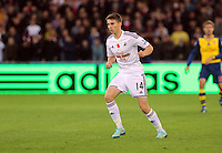 Sunday 09 November 2014 <br /> Pictured: Tom Carroll of Swansea<br /> Re: Barclays Premier League, Swansea City FC v Arsenal City at the Liberty Stadium, Swansea, Great Britain.