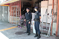 Campinas (SP), 31/03/2020 - Covid-19/Comércio - A Guarda Municipal da cidade de Campinas, interior de São Paulo, orientou os proprietários de comércio que estavam aberto nesta terça-feira (31) a fecharem as portas, na região do Campo Grande.