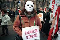 - Milan general strike against the amendments to the Workers Statute....- Milano, sciopero generale contro le modifiche allo Statuto dei Lavoratori
