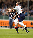 10/09/2005         Copyright Pic : James Stewart.File Name : jspa04 falkirk v rangers.STEVEN O'DONNELL AND FERNANDO RICKSEN COLLIDE....Payments to :.James Stewart Photo Agency 19 Carronlea Drive, Falkirk. FK2 8DN      Vat Reg No. 607 6932 25.Office     : +44 (0)1324 570906     .Mobile   : +44 (0)7721 416997.Fax         : +44 (0)1324 570906.E-mail  :  jim@jspa.co.uk.If you require further information then contact Jim Stewart on any of the numbers above.........