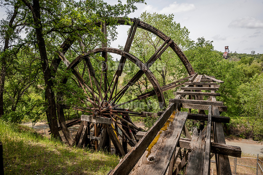 No. 1 Kennedy Tailing Wheel and gold mine, spring, Jackson, Calif.