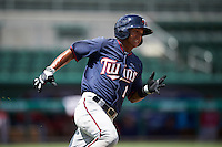 Minnesota Twins Lean Marrero (1) during an Instructional League game against the Boston Red Sox on September 23, 2016 at JetBlue Park at Fenway South in Fort Myers, Florida.  (Mike Janes/Four Seam Images)