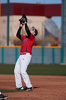 Joe Wozny (17) of The Stony Brook School in Lake Grove, New York during the Baseball Factory All-America Pre-Season Tournament, powered by Under Armour, on January 14, 2018 at Sloan Park Complex in Mesa, Arizona.  (Freek Bouw/Four Seam Images)