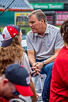 22 September 2018: Washington Nationals and MASN Play-By-Play Broadcaster Bob Carpenter answers fan questions prior to a game against the New York Mets at Nationals Park in Washington, DC. The Nationals shut out the Mets 6-0 in the 3rd game of their 4-game series. Mandatory Credit: Ed Wolfstein Photo *** RAW (NEF) Image File Available ***