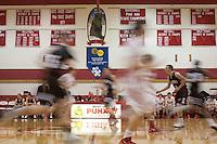 Players during a game at Punxsutawney High School.