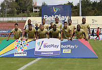 RIONEGRO-COLOMBIA, 08-10-2020: Jugadores de Rionegro Águilas Doradas, posan para una foto, antes de partido de la fecha 12 entre Rionegro Aguilas Doradas y Patriotas Boyaca, por la Liga BetPlay DIMAYOR 2020-I, jugado en el estadio Alberto Giraldo de la ciudad de Rionegro. / Players of Rionegro Aguilas Doradas, pose for a photo, prior a match of the 12th date between Rionegro Aguilas Doradas and Patriotas Boyaca for the BetPlay Dimayor Leguaje 2020-I, played at Alberto Giraldo stadium in Rionegro city. Photo: VizzorImage / Juan Augusto Cardona / Cont.
