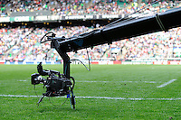 General view of the Sky Television camera during the iRB Marriott London Sevens at Twickenham on Sunday 13th May 2012 (Photo by Rob Munro)
