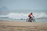 Denise Betsema (NED/Pauwels Sauzen-Bingoal) starting off, per usual,  impressively strong <br /> <br /> UCI 2021 Cyclocross World Championships - Ostend, Belgium<br /> <br /> Women's Race<br /> <br /> ©kramon