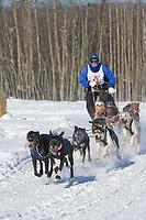 Musher Ed Streeper, 2007 Open North American Championship sled dog race (the world's premier sled dog sprint race) is held annually in Fairbanks, Alaska.
