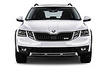 Car photography straight front view of a 2017 Skoda Octavia Combi Scout 5 Door Wagon