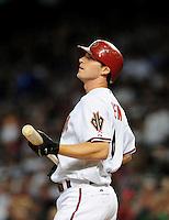 Jul 18, 2008; Phoenix, AZ, USA; Arizona Diamondbacks shortstop Stephen Drew against the Los Angeles Dodgers at Chase Field. Mandatory Credit: Mark J. Rebilas-