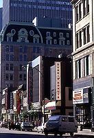 1985 File Photo - Peel street in downtown Montreal