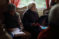 CHINA. Beijing. Singing practise amongst residents of the Sun City retirement complex for the elderly. 2010