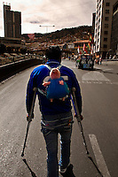 A group of handicapped people is tsill protesting in La Paz, Bolivia, to try to be eard by Evo Morales Government, to get a monthly 500 Bs vital bonus (some 60 USD). Government just wait for  them to be tired of protesting since they get to La Paz, one month ago, and don't show signals to look for negotiaitions. Local people are getting more agressive against them every day, as they are affected in their transportations habits.