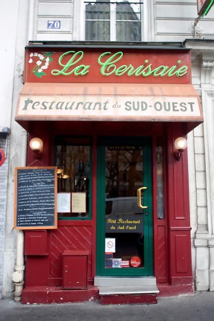 Exterior, La Cerisaie Restaurant, Paris, France, Europe