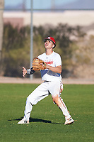 David Balague (43), from San Bruno, California, while playing for the Nationals during the Under Armour Baseball Factory Recruiting Classic at Red Mountain Baseball Complex on December 29, 2017 in Mesa, Arizona. (Zachary Lucy/Four Seam Images)
