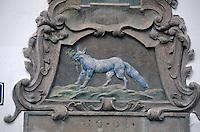 Hauszeichen auf der Kampa-Insel, Prag, Tschechien, Unesco-Weltkulturerbe