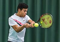 Wateringen, The Netherlands, March 16, 2018,  De Rhijenhof , NOJK 14/18 years, Nat. Junior Tennis Champ.  Christopher Lam (NED)<br />  Photo: www.tennisimages.com/Henk Koster