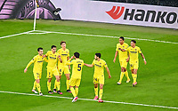 26th May 2021; STADION GDANSK  GDANSK, POLAND; UEFA EUROPA LEAGUE FINAL, Villarreal CF versus Manchester United: Gerard Moreno celebrates as he scores the games 1st goal for 1-0 in the 29th minute