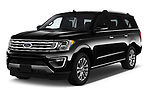 2018 Ford Expedition XLT MAX 4x2 5 Door SUV angular front stock photos of front three quarter view